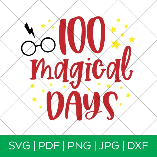 Silhouette Files 100 Days SVG 100 Days of School SVG 100th Day SVG Svg Files for Cricut