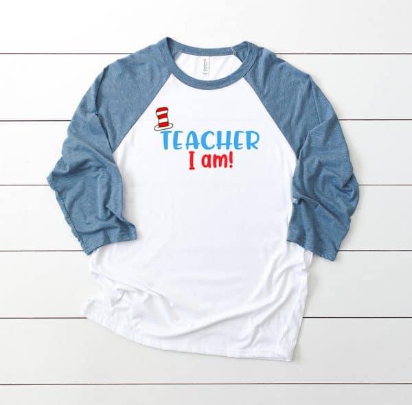 Teacher I Am Dr. Seuss SVG Cut File by Pineapple Paper Co.