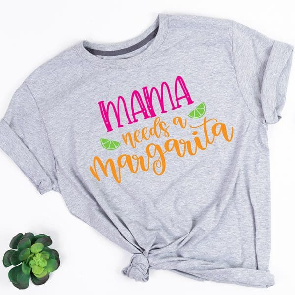Mama Needs a Margarita Shirt DIY by Pineapple Paper Co.