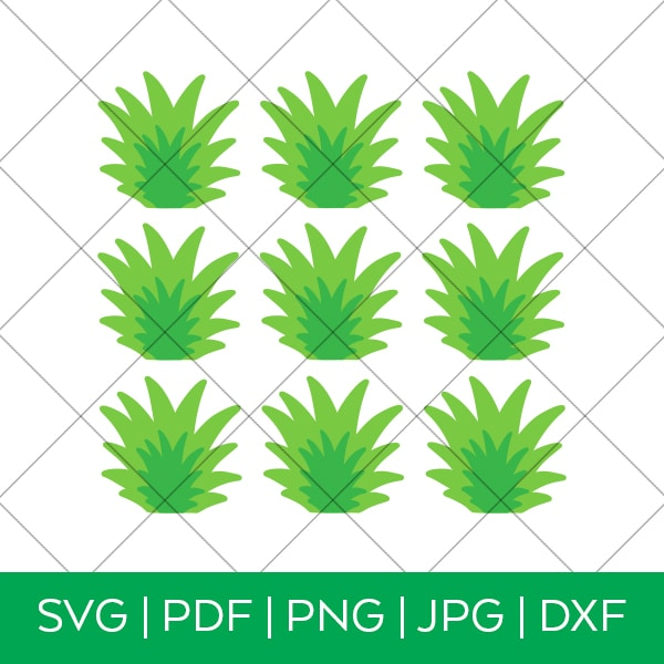 Pineapple Cupcake Topper SVG File by Pineapple Paper Co.