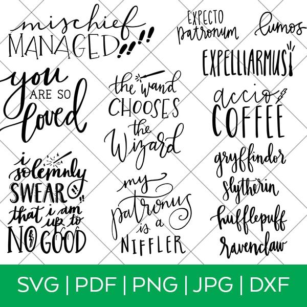 Harry Potter SVG Bundle by Pineapple Paper Co.