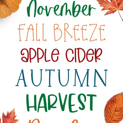 Fall Fonts for Crafts and Printables