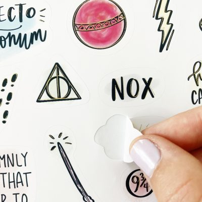 How to Make Print then Cut Stickers with Foil