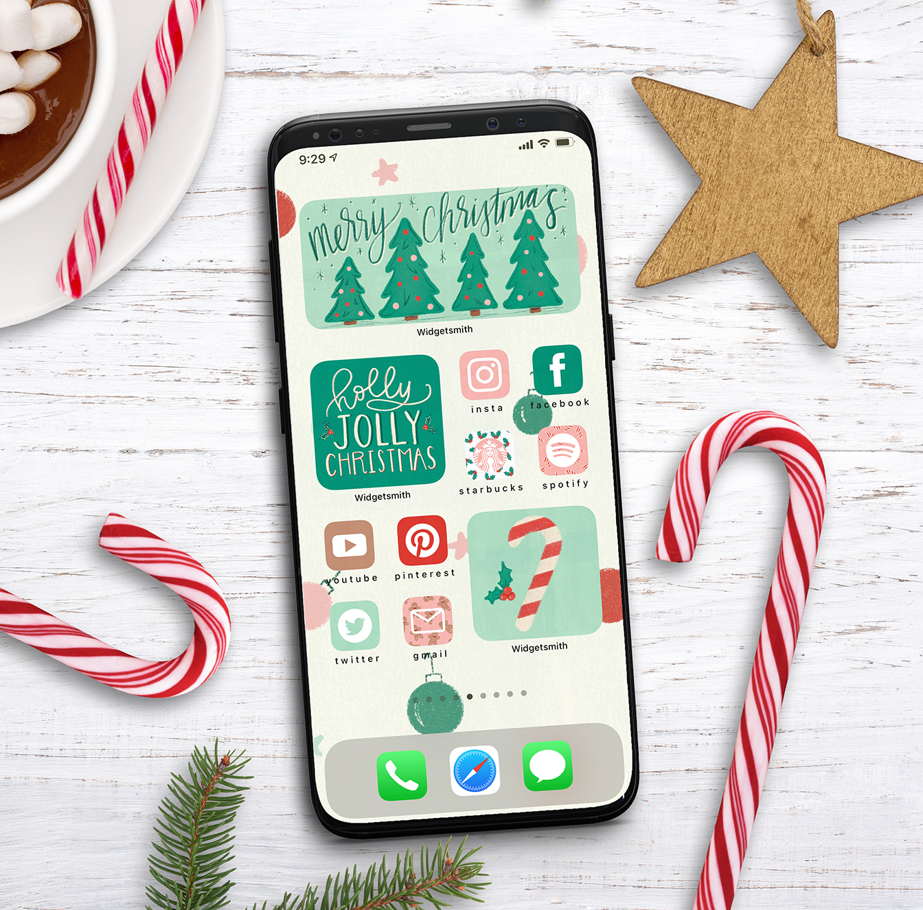 Free Ios Christmas Aesthetic Widget And App Icons