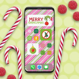 Grinch iPhone Aesthetic App and Widget Icons on iPhone
