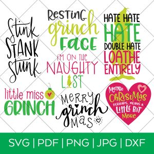 Grinch Inspired Movie SVG Bundle for Cricut & Silhouette Machines