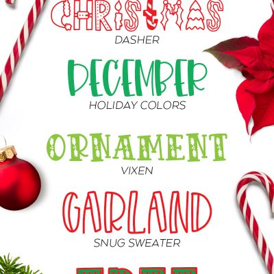 Best Free and Cheap Christmas Fonts