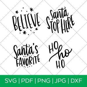 Santa Ornament Set SVG Files