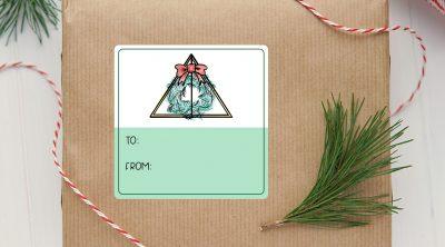 Free Deathly Hallows Printable Harry Potter Christmas Gift Tags
